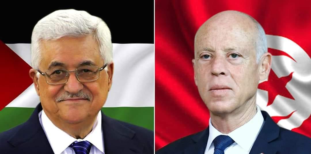 Tunisie: Entretien téléphonique entre Kais Saied et Mahmoud Abbas