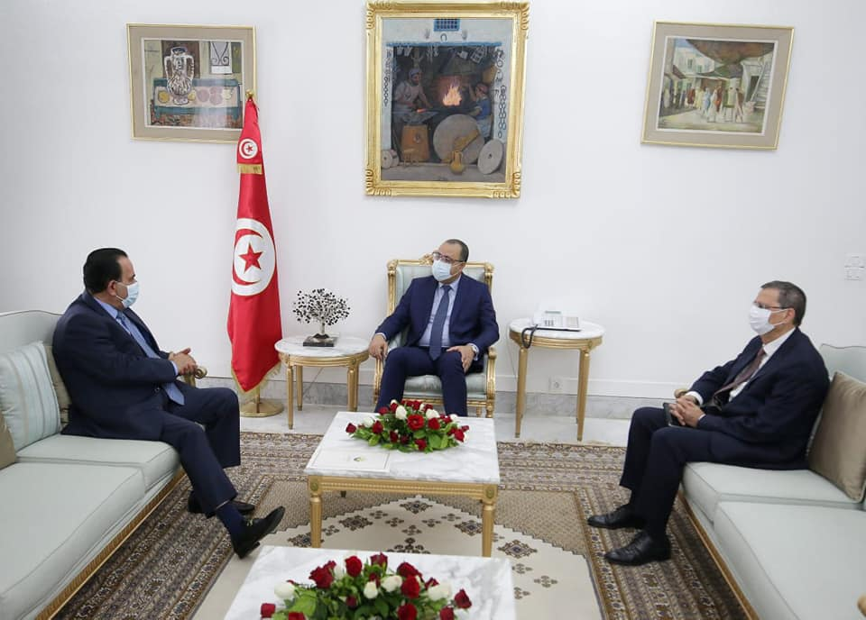L'investissement qatari en Tunisie au centre d'une réunion entre Hichem Mechichi et Saâd Ben Naceur Al Hamidi