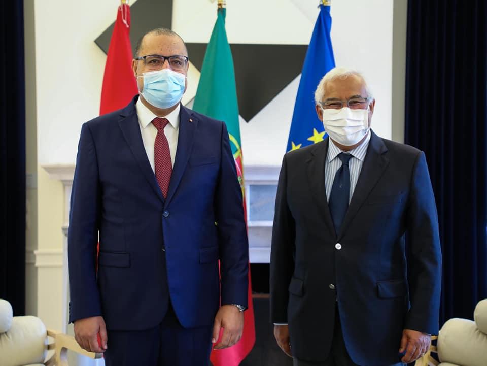 Tunisie: Hichem Mechichi s'entretient avec António Costa sur l'acquisition des vaccins anti-covid19