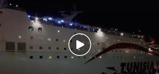 Port de Marseille: Premier voyage de retour des tunisiens de l'étranger de Marseille vers le port de Zarzis