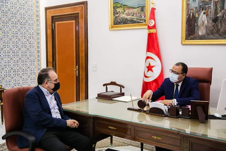 Tunisie : Hichem Mechichi reçoit le ministre de la Santé par intérim