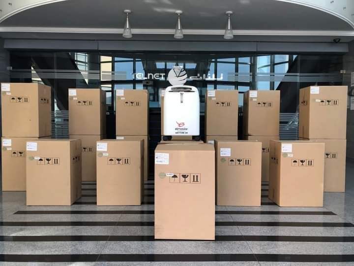 Dons médicaux : Groupe Telnet fournit des concentrateurs d'oxygène pour lutter contre le Coronavirus