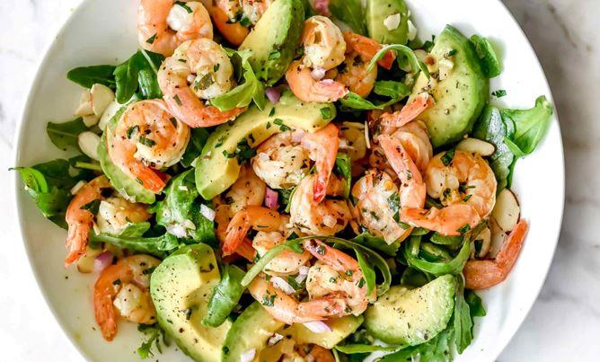 Recette : Salade avocat et crevettes