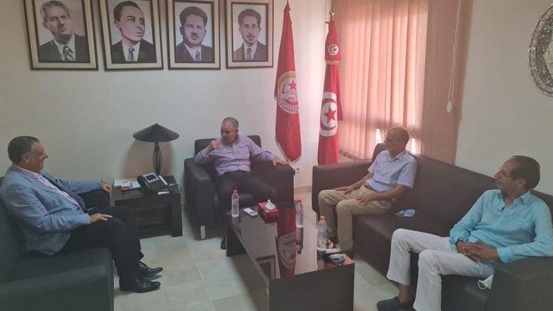 Tunisie: Noureddine Taboubi reçoit une délégation du Courant démocrate