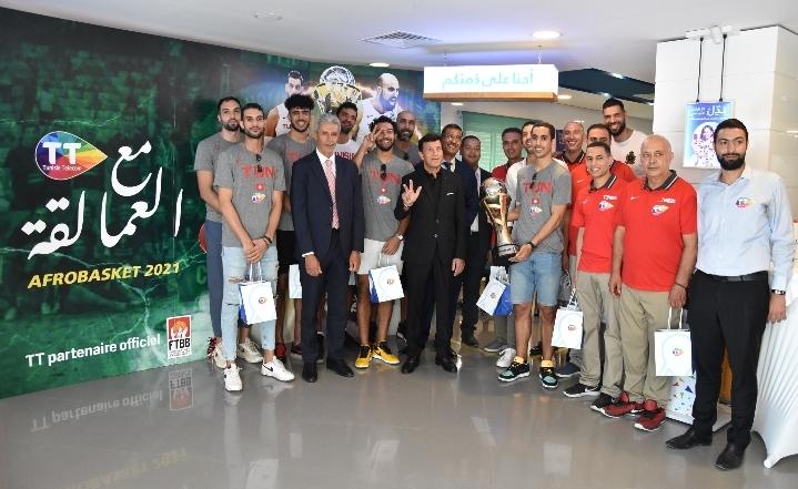 Tunisie Telecom, premier sponsor officiel du sport tunisien, fête le sacre de l'équipe nationale de basketball
