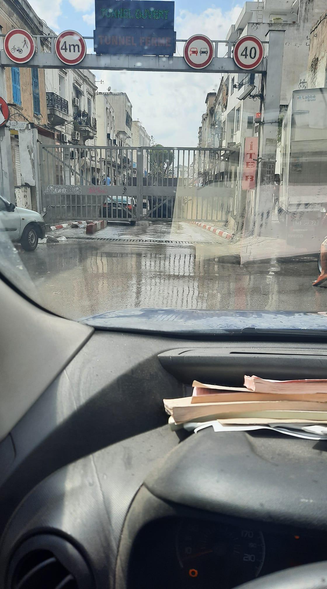 Inondations: Fermeture du tunnel de Bab Souika
