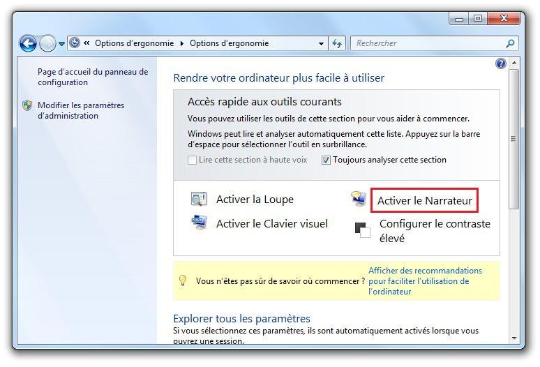 voix française narrateur windows 7