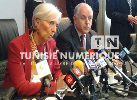 Christine Lagarde appelle les autorités tunisiennes à œuvrer pour rassurer les investisseurs