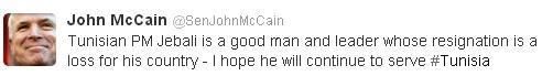 Tweet John mccain
