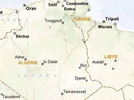 Carte Algerie Libye.L Algerie Va Fermer Partiellement Sa Frontiere Avec La Libye