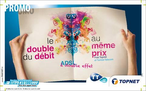 Topnet double le débit ADSL pour ses abonnés actuels et ses nouveaux clients sans augmentation de prix